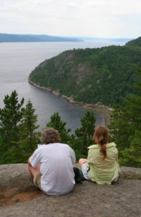 Observation of whale in the Fjord of Saguenay